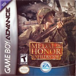 Box cover for Medal of Honor: Infiltrator on the Nintendo Game Boy Advance.