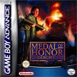 Box cover for Medal of Honor: Underground on the Nintendo Game Boy Advance.
