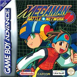 Box cover for Mega Man Battle Network on the Nintendo Game Boy Advance.