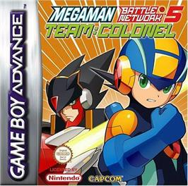 Box cover for Mega Man Battle Network 5: Team Colonel on the Nintendo Game Boy Advance.