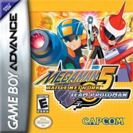 Box cover for Mega Man Battle Network 5: Team Protoman on the Nintendo Game Boy Advance.