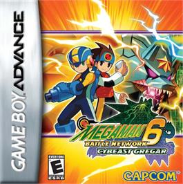 Box cover for Mega Man Battle Network 6: Cybeast Gregar on the Nintendo Game Boy Advance.