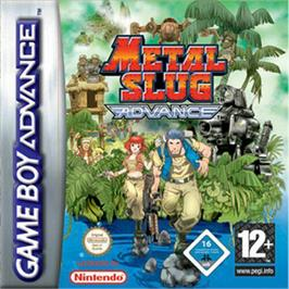 Box cover for Metal Slug Advance on the Nintendo Game Boy Advance.