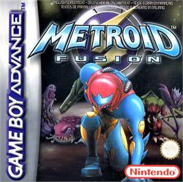 Box cover for Metroid Fusion on the Nintendo Game Boy Advance.