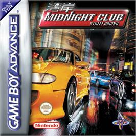 Box cover for Midnight Club: Street Racing on the Nintendo Game Boy Advance.