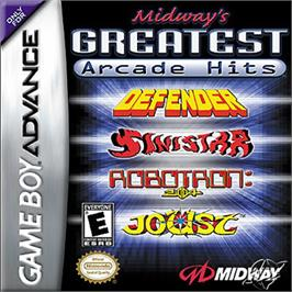 Box cover for Midway's Greatest Arcade Hits on the Nintendo Game Boy Advance.
