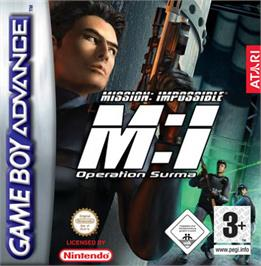 Box cover for Mission Impossible: Operation Surma on the Nintendo Game Boy Advance.