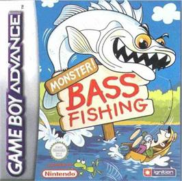 Box cover for Monster! Bass Fishing on the Nintendo Game Boy Advance.