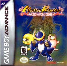 Box cover for Monster Rancher Advance on the Nintendo Game Boy Advance.
