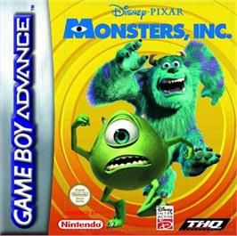 Box cover for Monsters Inc. on the Nintendo Game Boy Advance.