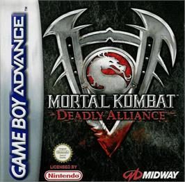 Box cover for Mortal Kombat: Deadly Alliance on the Nintendo Game Boy Advance.