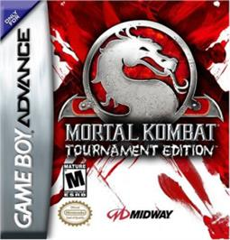 Box cover for Mortal Kombat: Tournament Edition on the Nintendo Game Boy Advance.