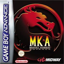 Box cover for Mortal Kombat Advance on the Nintendo Game Boy Advance.