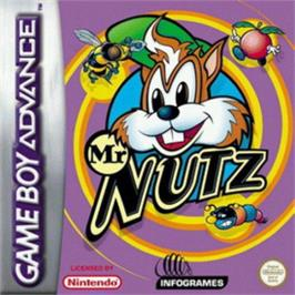 Box cover for Mr. Nutz on the Nintendo Game Boy Advance.