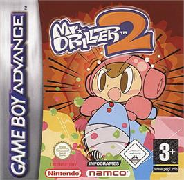 Box cover for Mr Driller 2 on the Nintendo Game Boy Advance.