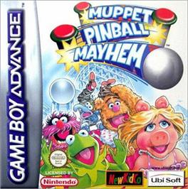 Box cover for Muppet Pinball Mayhem on the Nintendo Game Boy Advance.
