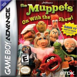 Box cover for Muppets: On with the Show on the Nintendo Game Boy Advance.