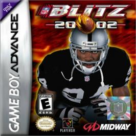 Box cover for NFL Blitz 20-02 on the Nintendo Game Boy Advance.