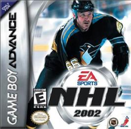 Box cover for NHL 2002 on the Nintendo Game Boy Advance.