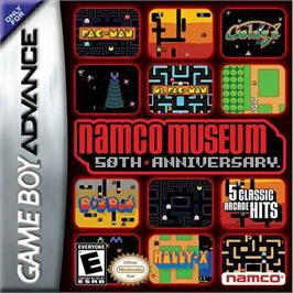 Box cover for Namco Museum 50th Anniversary on the Nintendo Game Boy Advance.
