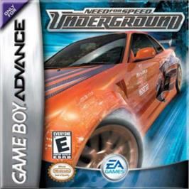 Box cover for Need for Speed Underground on the Nintendo Game Boy Advance.