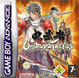 Box cover for Onimusha Tactics on the Nintendo Game Boy Advance.