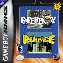 Box cover for Paperboy / Rampage on the Nintendo Game Boy Advance.