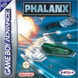 Box cover for Phalanx on the Nintendo Game Boy Advance.