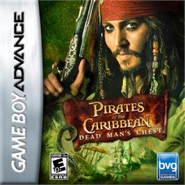 Box cover for Pirates of the Caribbean: Dead Man's Chest on the Nintendo Game Boy Advance.