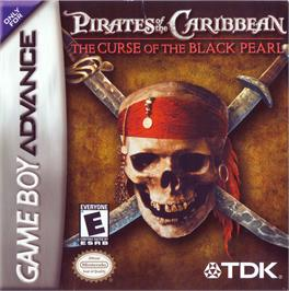 Box cover for Pirates of the Caribbean: The Curse of the Black Pearl on the Nintendo Game Boy Advance.