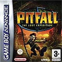 Box cover for Pitfall: The Lost Expedition on the Nintendo Game Boy Advance.