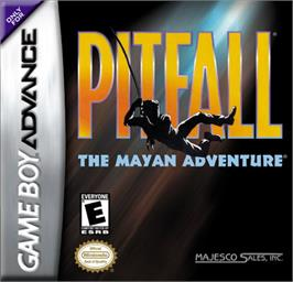 Box cover for Pitfall: The Mayan Adventure on the Nintendo Game Boy Advance.