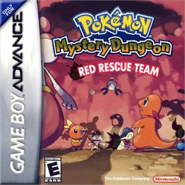 Box cover for Pokemon Mystery Dungeon: Red Rescue Team on the Nintendo Game Boy Advance.