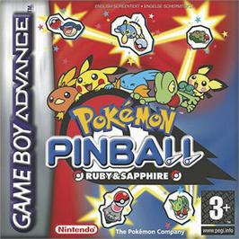 Box cover for Pokemon Pinball: Ruby & Sapphire on the Nintendo Game Boy Advance.