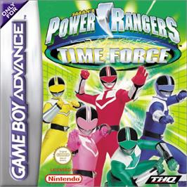 Box cover for Power Rangers: Time Force on the Nintendo Game Boy Advance.