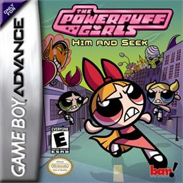 Box cover for Powerpuff Girls: Him and Seek on the Nintendo Game Boy Advance.