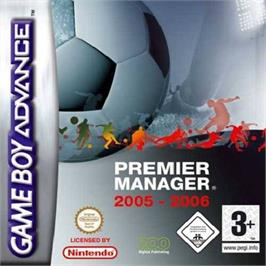 Box cover for Premier Manager 2005-2006 on the Nintendo Game Boy Advance.