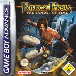 Box cover for Prince of Persia: The Sands of Time on the Nintendo Game Boy Advance.
