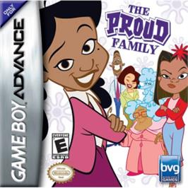 Box cover for Proud Family on the Nintendo Game Boy Advance.