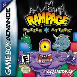 Box cover for Rampage Puzzle Attack on the Nintendo Game Boy Advance.