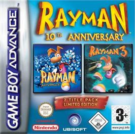 Box cover for Rayman on the Nintendo Game Boy Advance.