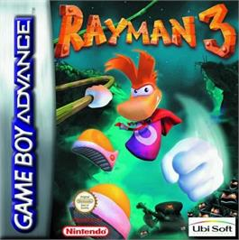 Box cover for Rayman 3: Hoodlum Havoc on the Nintendo Game Boy Advance.