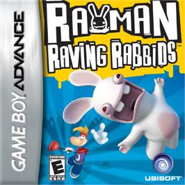 Box cover for Rayman Raving Rabbids on the Nintendo Game Boy Advance.