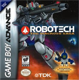 Box cover for Robotech: The Macross Saga on the Nintendo Game Boy Advance.