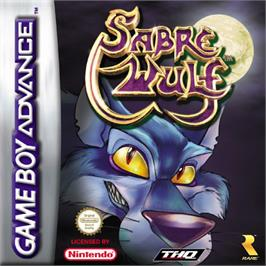 Box cover for Sabre Wulf on the Nintendo Game Boy Advance.
