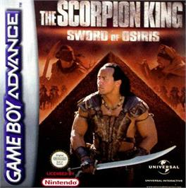 Box cover for Scorpion King: Sword of Osiris on the Nintendo Game Boy Advance.