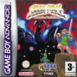 Box cover for Shining Force: Resurrection of the Dark Dragon on the Nintendo Game Boy Advance.