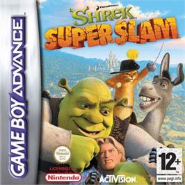 Box cover for Shrek SuperSlam on the Nintendo Game Boy Advance.