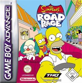 Box cover for Simpsons: Road Rage on the Nintendo Game Boy Advance.