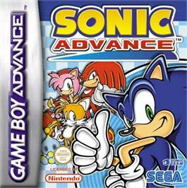 Box cover for Sonic Advance on the Nintendo Game Boy Advance.